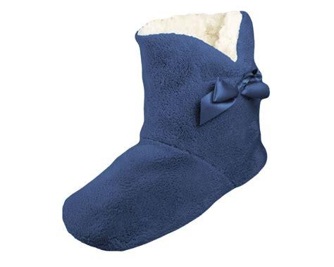 bottom slipper boots toesters fleece lined grip sole slipper boots ebay