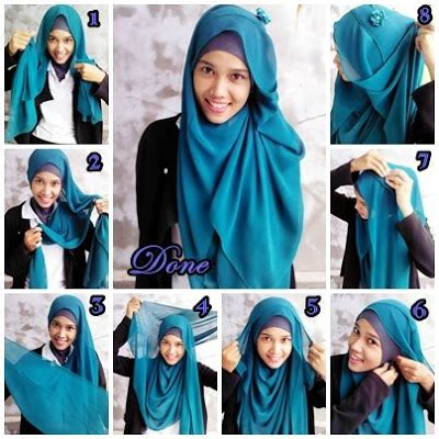 Jilbab Motif Persegi 3 cara memakai jilbab pashmina chiffon motif modern car interior design