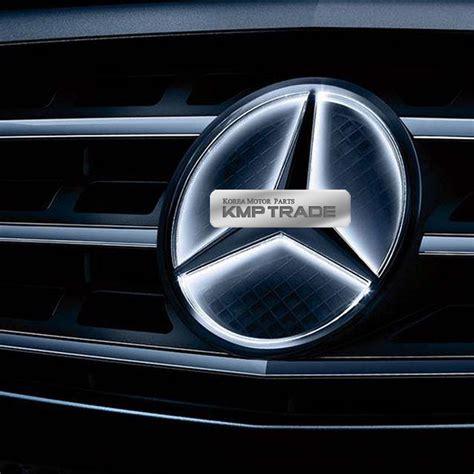 Tempelan Emblem Badge Mini Mercedes illuminated led light front grille emblem badge for mercedes 13 16 car 8809510839795