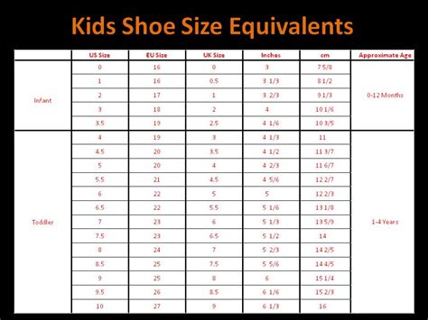 uk kid shoe size qatique closet childrens shoe size chart