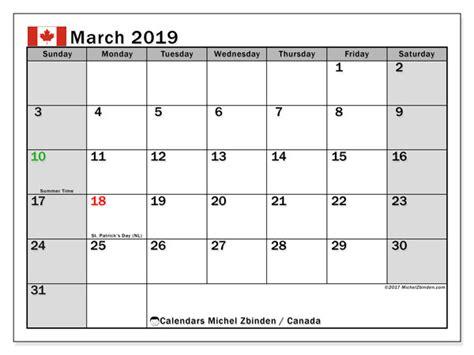 march  calendar canada michel zbinden en