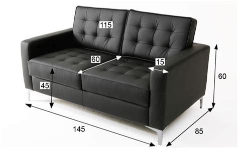 divani knoll divano florence knoll 2 posti nero rental design