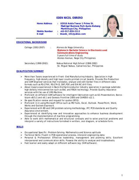 resume with two addresses edenobrero resume fase