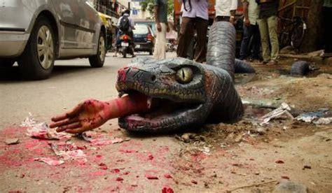 anaconda pop   bengalurus water filled potholes  news minute