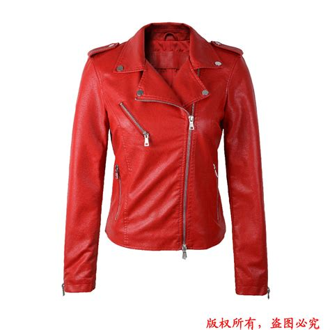 2016 new autumn s fashion soft black leather jackets turn collar slim