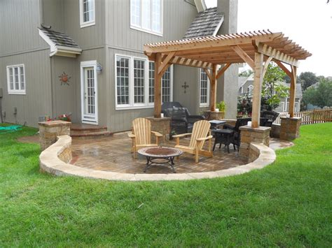 patios with pergolas paver patio hardscape archadeck of kansas city