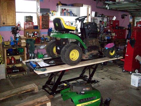 Riding Lawn Mower Lift Table Modern Coffee Tables And