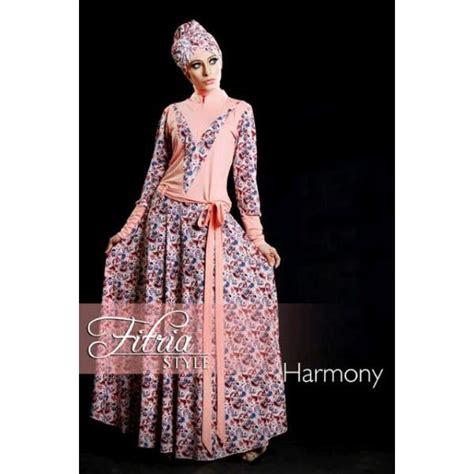Dres Muslimah Model Ruby Dress Soft Blue Terlaris harmony salem baju muslim gamis modern