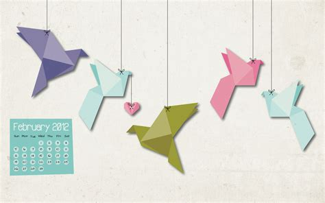 Folded Paper Birds - beautify me welcome february