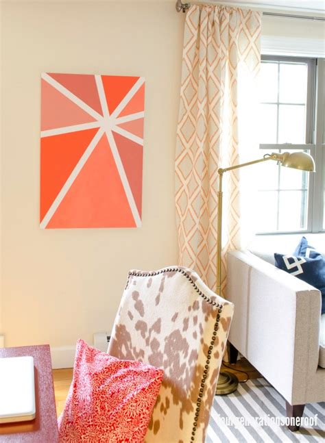 ombre walls tutorial our orange ombre wall art tutorial four generations
