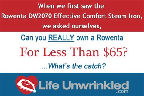 Rowenta Effective Comfort Dw2070 by Rowenta Dw2070 Effective Comfort Review Unwrinkled