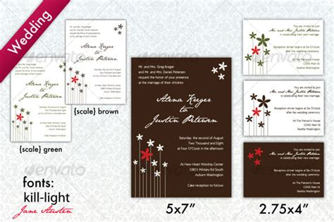 graphicriver modern wedding invitation cards template vector brown white modern wedding invitation graphicriver
