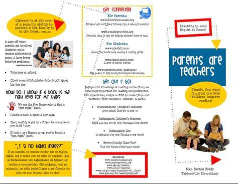Primary Inspired Family Literacy Brochure In Word Parent Brochure Templates