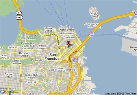 san francisco downtown map union square map of hotel union square san francisco