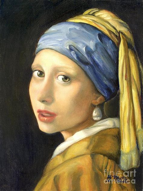 pearl earring painting with a pearl earring by gretchen matta