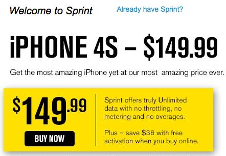 Sprint Gift Card - sprint now offering 100 gift card with 149 iphone 4s purchase