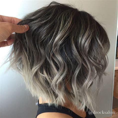 short grey hair with black highlights photo of d rock salon fairfax va united states silver