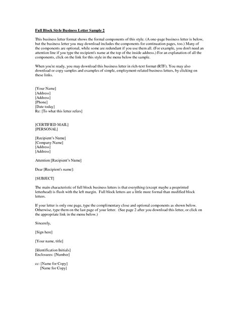Business Letter Template Cc And Enclosure Letter Format Cc And Enclosure Best Template Collection