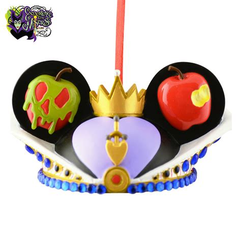 Good Imprinted Christmas Ornaments #8: 2012-Disney-Parks-Ear-Hat-Collection-Villains-Character-Inspired-Hanging-Christmas-Ornament-Evil-Queen-P001.jpg