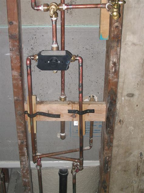 Plumbing Shower by Plumbing Shower Valve Installation