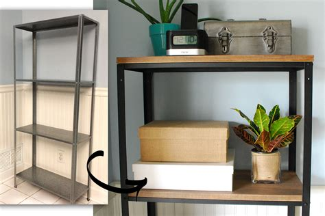 Bookshelf Bookcase Ikea Hack Wood And Metal Bookshelf Real Happy Space