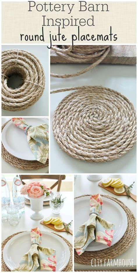 diy home decor how to make placemats and other easy how to make round jute place mats jennifer rizzo