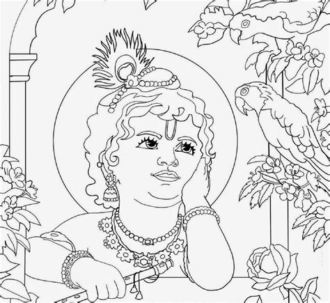coloring pages of baby krishna colour drawing free wallpaper lord baby krishna coloring