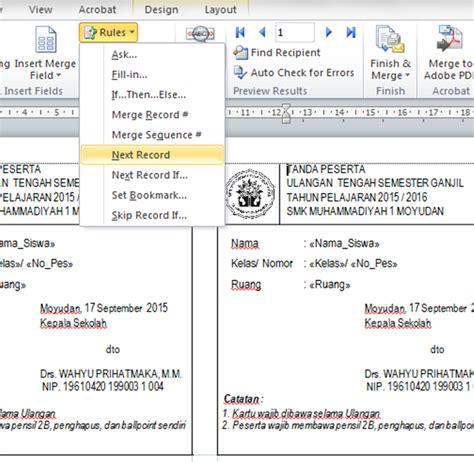 membuat kartu ujian dengan mail merge fardian imam m membuat kartu ujian dengan mail merge dan