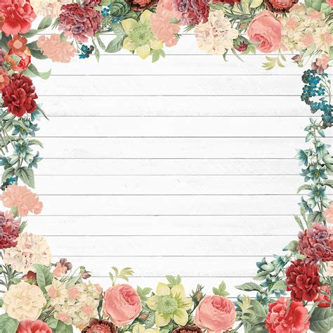 flowers card template border of paper shop for the floral border scrapbook paper by