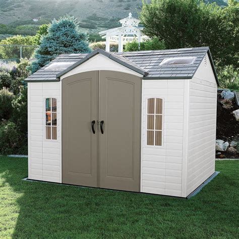 lifetime   outdoor storage shed garden backyard
