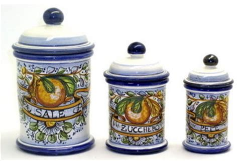 Kitchen Canisters For Sale Aranci Three Pieces Canister Set Sale Zucchero Pepe