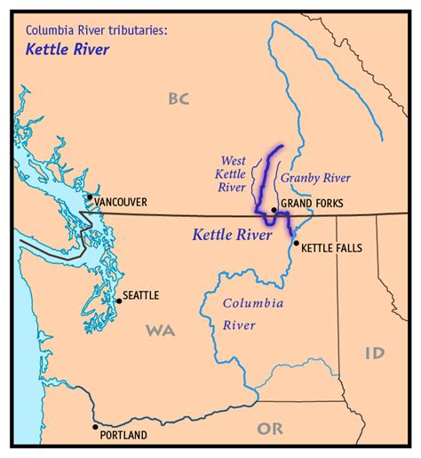 columbia river map opinions on kettle river columbia river