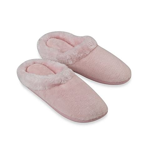 bed bath and beyond slippers buy memory foam women s slippers from bed bath beyond