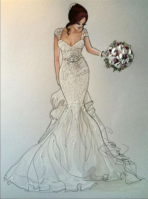 Wedding Drawing by Best 25 Wedding Dress Sketches Ideas On