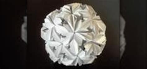 Origami Buckyball - how to origami a chrysanthemum buckyball 171 origami