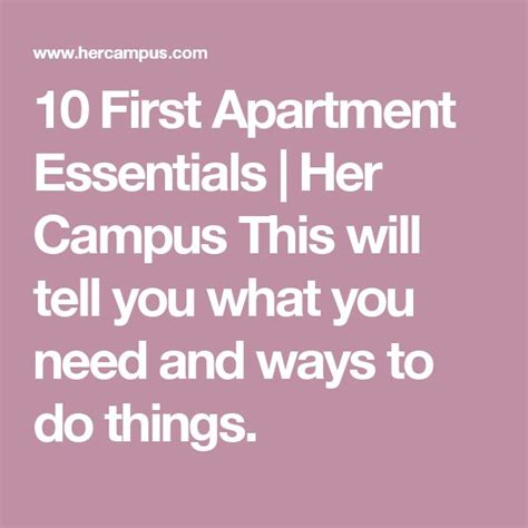 things you need for first apartment 25 best ideas about apartment essentials on pinterest college apartment checklist first