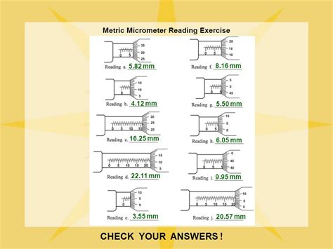 Reading A Micrometer Worksheet by Precision Measurement Ppt