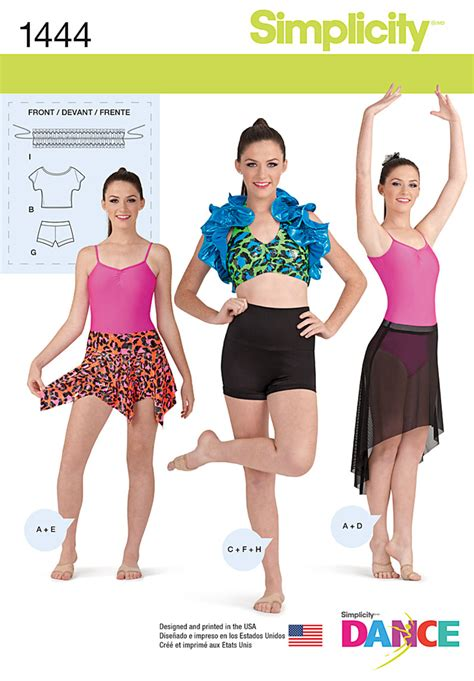 sewing activewear how to make your own professional looking athletic wear books simplicity 1444 misses knit dancewear