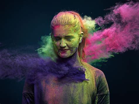 colorful portraits colorful holi powders make striking vibrant portraits