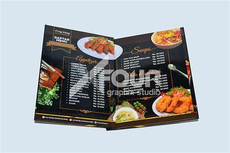 Buku Menu buku menu makanan mencetak semudah belanja