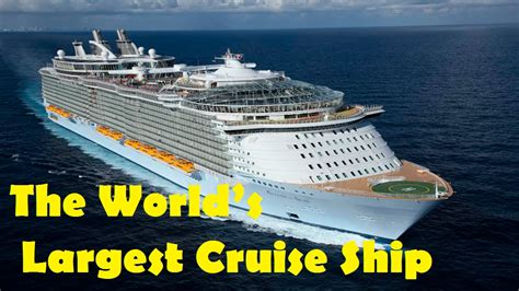 largest cruise ship allure of the seas the world s largest cruise ship 2016