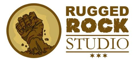 rugged rock logo design an exploring south