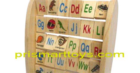 Mainan Edukatif Edukasi Anak Balok Kayu Alphabet Berdiri Inggris p r i s m a r t cv argacita solusindo prismart toys