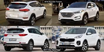 Kia Sportage Vs Hyundai Tucson Benim Otomobilim 2017 Kia Sportage Vs 2016 Hyundai Tucson