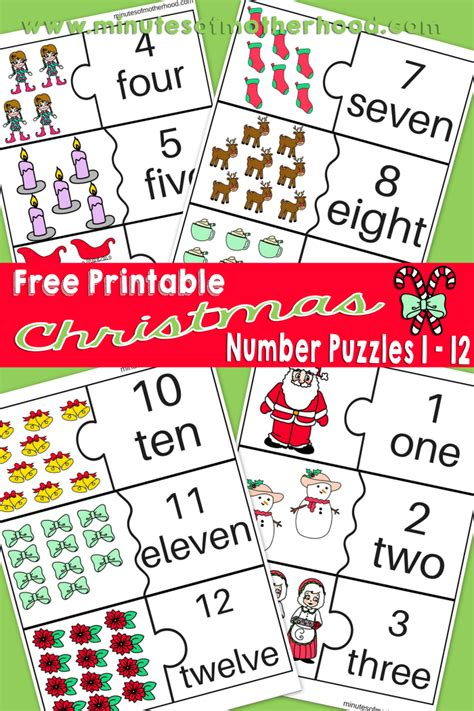 printable christmas number puzzles miniature masterminds
