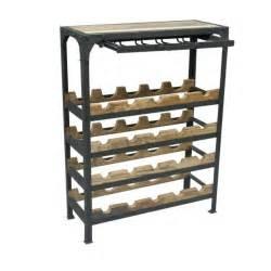 upcycled teak steel wine rack ashgate furniture co