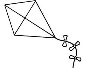 Kite Outline Picture by Kite Clipart Black And White Clipart Best