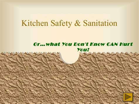 Kitchen Safety Sanitation by Kitchensafety