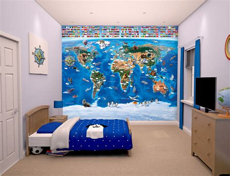 wall mural map of the world map of the world for wall murals ireland