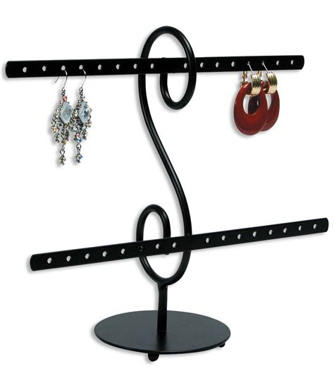 I Ring Iring Stand Holder Karakter Swarovski Stand Un Murah metal earring rack jewelry display holds16 pairs jewelry display cases portable wholesale